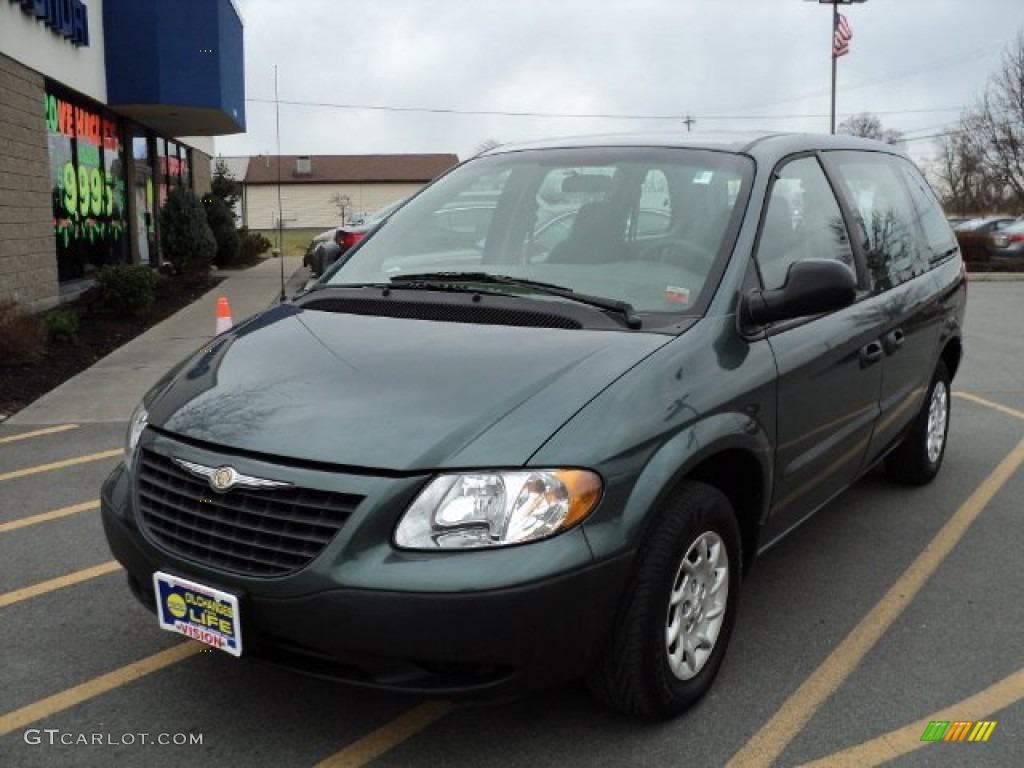 2002 Onyx Green Pearl Chrysler Voyager  58725012