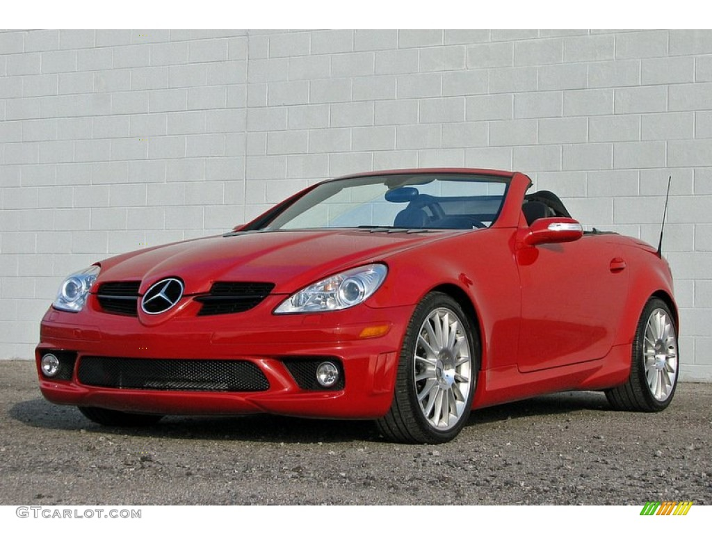 mars red 2007 mercedes benz slk 55 amg roadster exterior photo 58758609. Black Bedroom Furniture Sets. Home Design Ideas