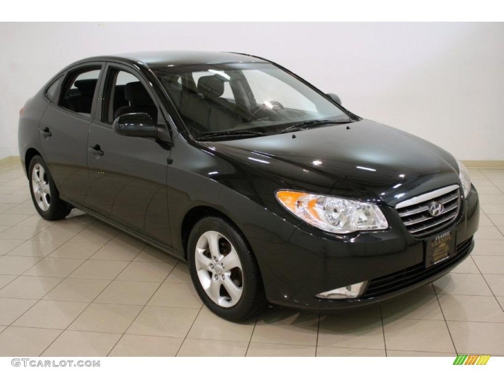 2007 Black Pearl Hyundai Elantra SE Sedan #58724963 ...