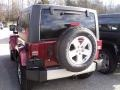 2012 Deep Cherry Red Crystal Pearl Jeep Wrangler Sahara 4x4  photo #3