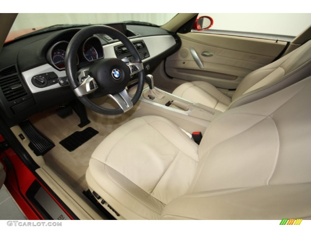Beige Interior 2008 Bmw Z4 3 0si Coupe Photo 58780149