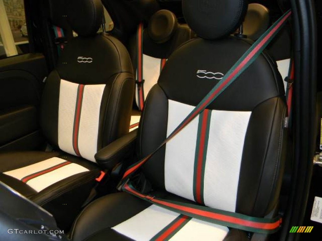 2012 fiat 500 c cabrio gucci gucci striped seat belts. Black Bedroom Furniture Sets. Home Design Ideas
