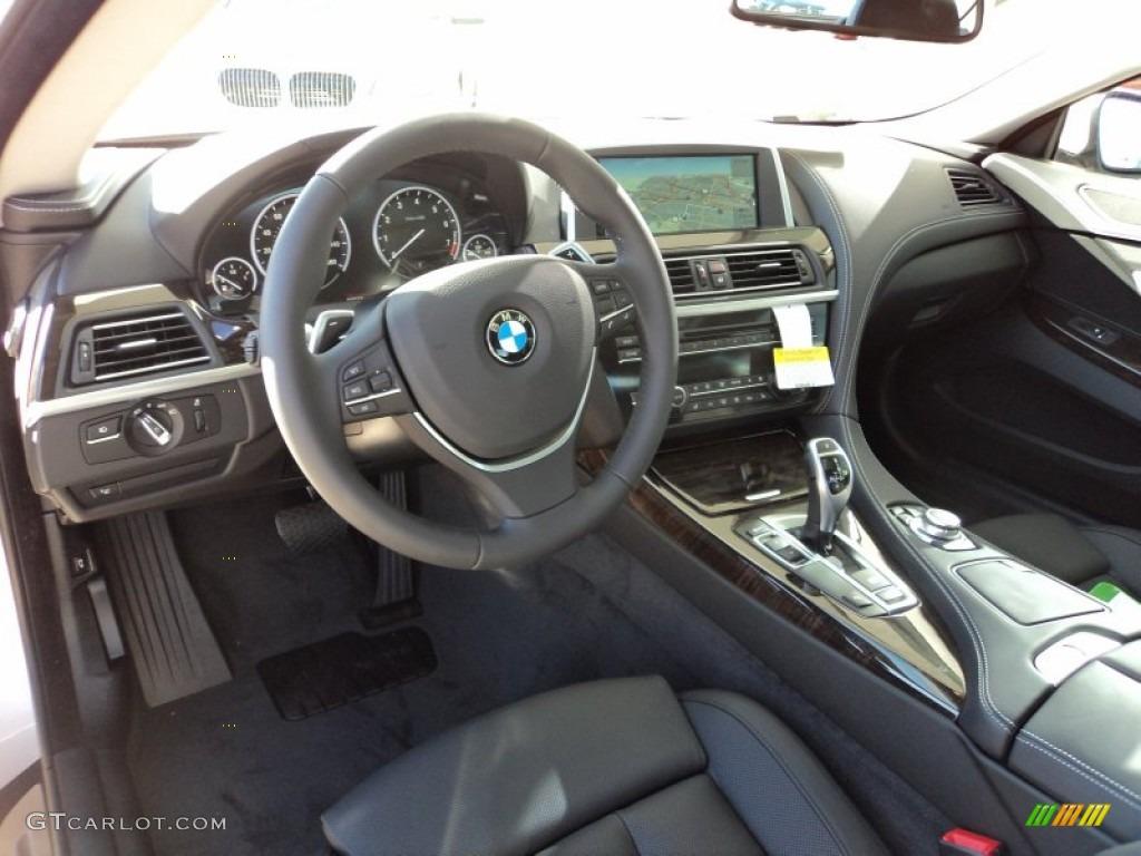 Black Nappa Leather Interior 2012 Bmw 6 Series 640i Coupe