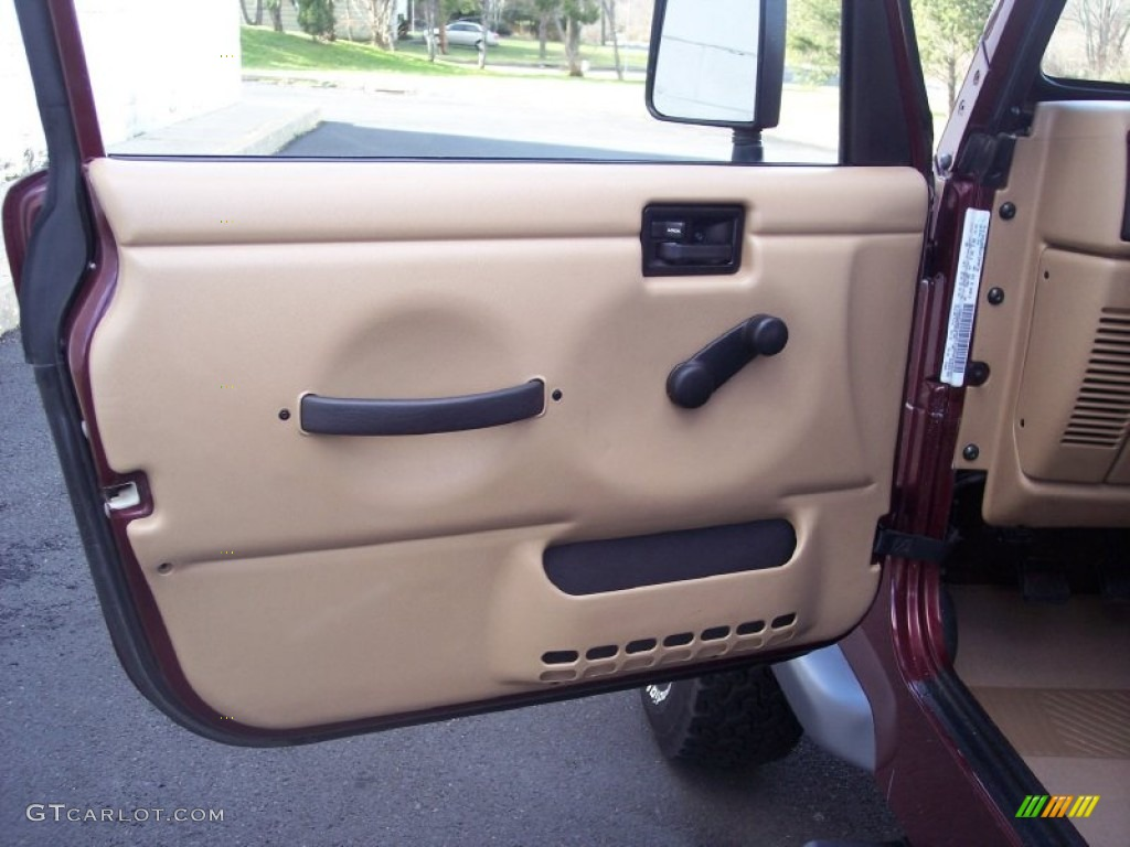 2001 Jeep Wrangler Se 4x4 Camel Door Panel Photo 58799124