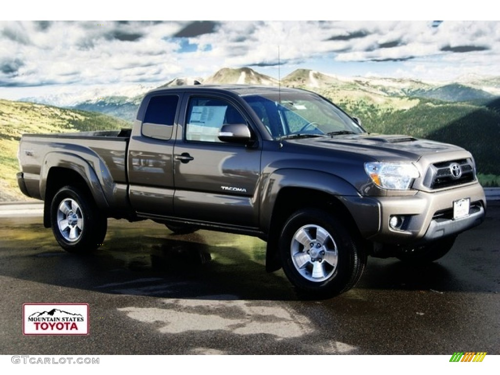 2012 Tacoma V6 TRD Sport Access Cab 4x4 - Pyrite Mica / Graphite photo #1