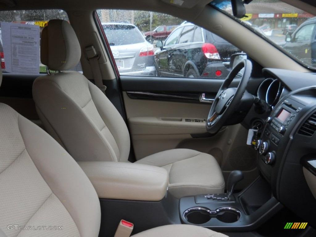 2011 Sorento LX V6 AWD - Spicy Red / Beige photo #7