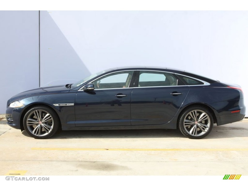 Indigo metallic 2011 jaguar xj xjl supersport exterior for Jaguar xj exterior