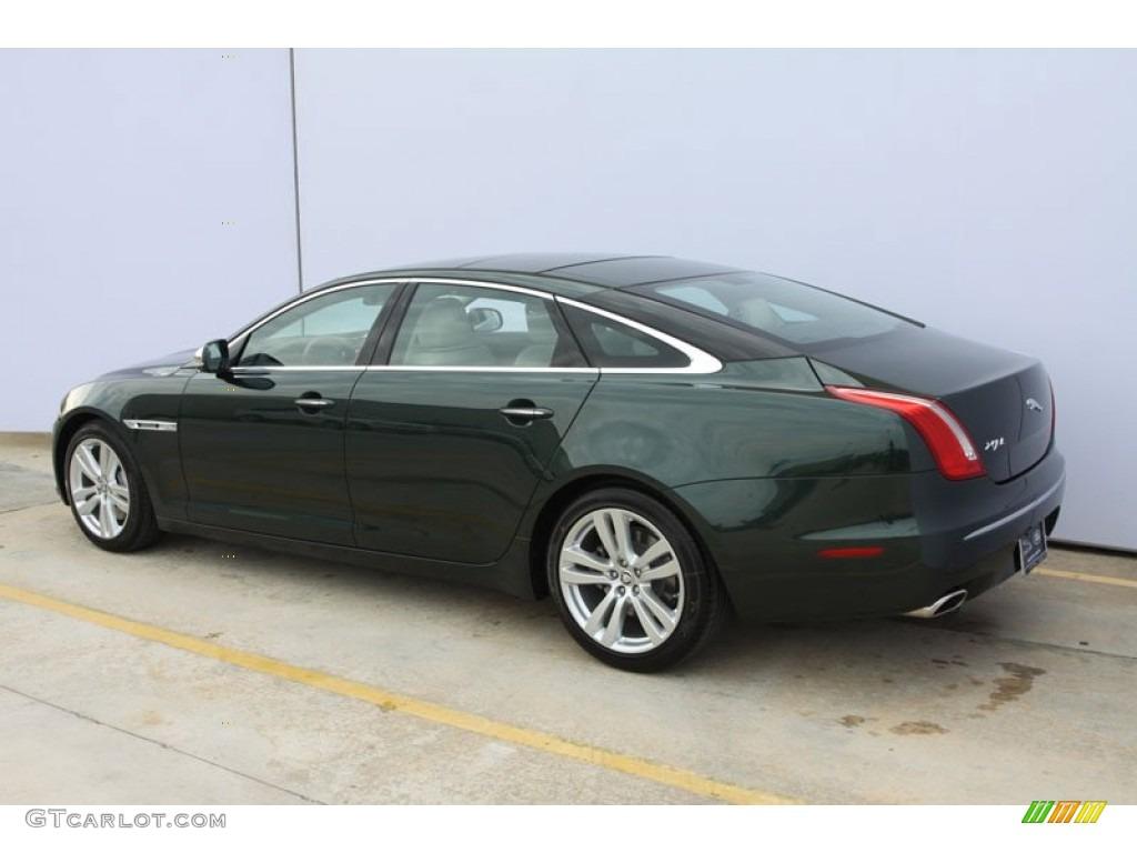 Taiga green metallic 2012 jaguar xj xjl portfolio exterior for Jaguar xj exterior