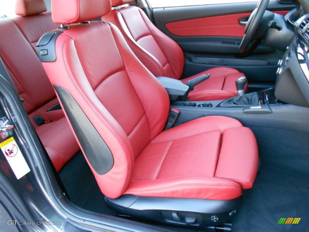 C Red Interior 2008 Bmw 1 Series 135i Coupe Photo 58838474