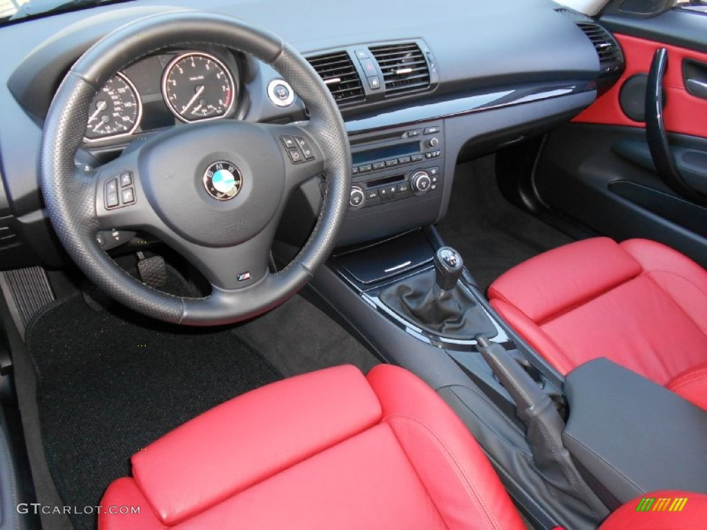 C Red Interior 2008 Bmw 1 Series 135i Coupe Photo 58838483