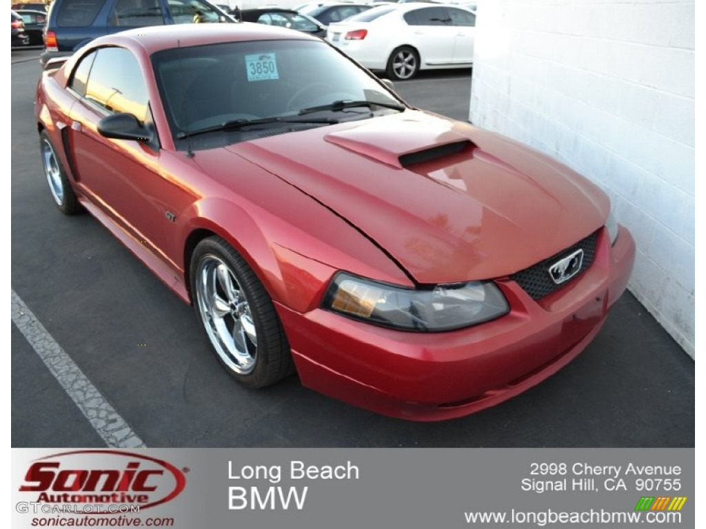 2001 Mustang GT Coupe - Laser Red Metallic / Dark Charcoal photo #1