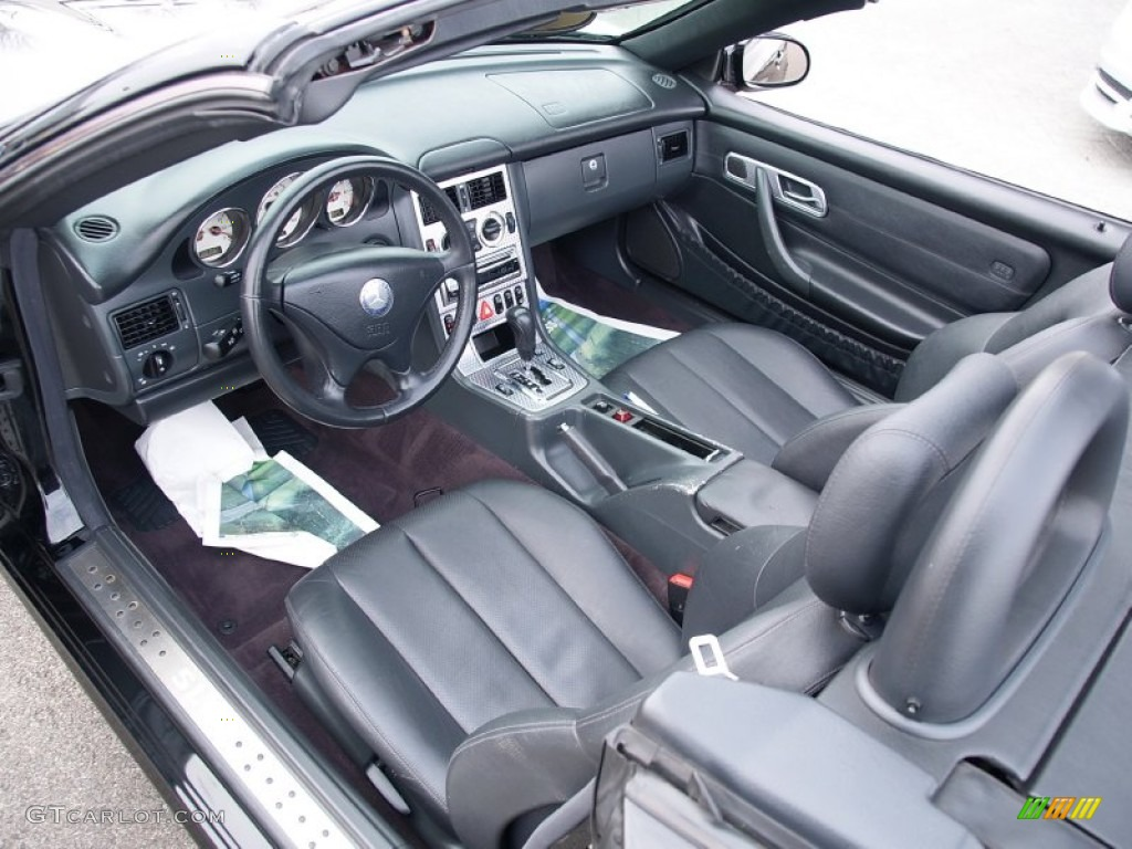 2002 Black Mercedes Benz Slk 230 Kompressor Roadster 58853292 Photo