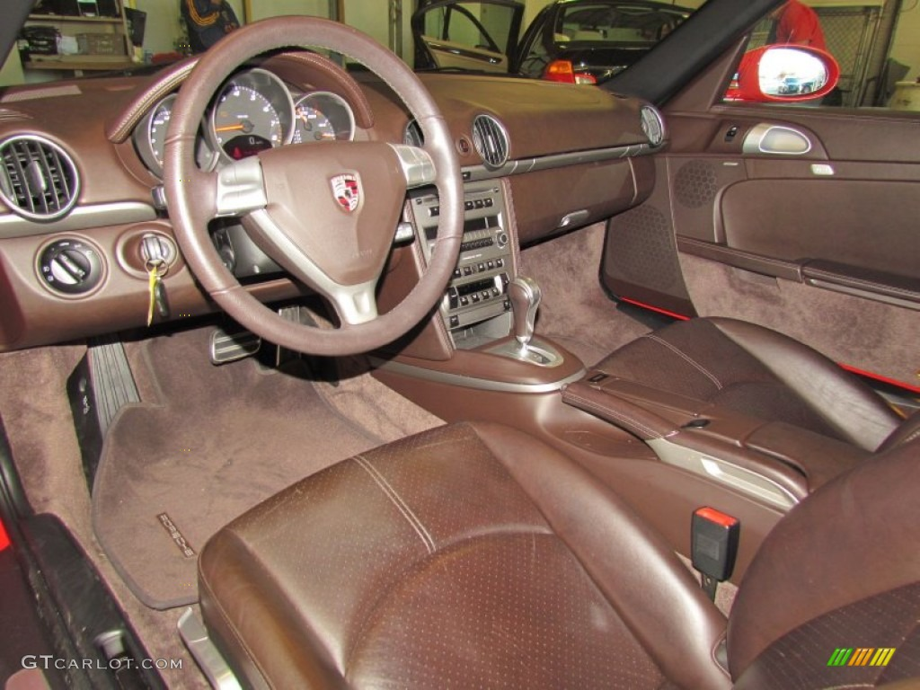 cocoa brown interior 2008 porsche boxster standard boxster model photo 58866010. Black Bedroom Furniture Sets. Home Design Ideas