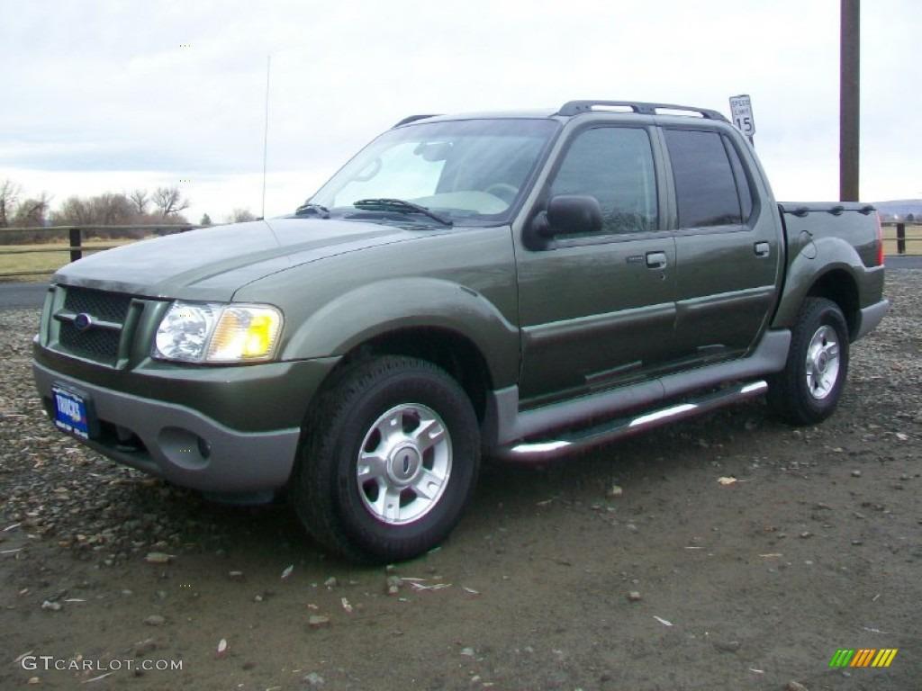 2003 Estate Green Metallic Ford Explorer Sport Trac XLT 4x4 58853210 Photo