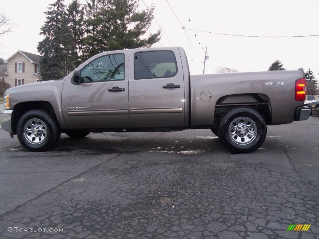 2012 Silverado 1500 LS Crew Cab 4x4 - Mocha Steel Metallic / Dark Titanium photo #1
