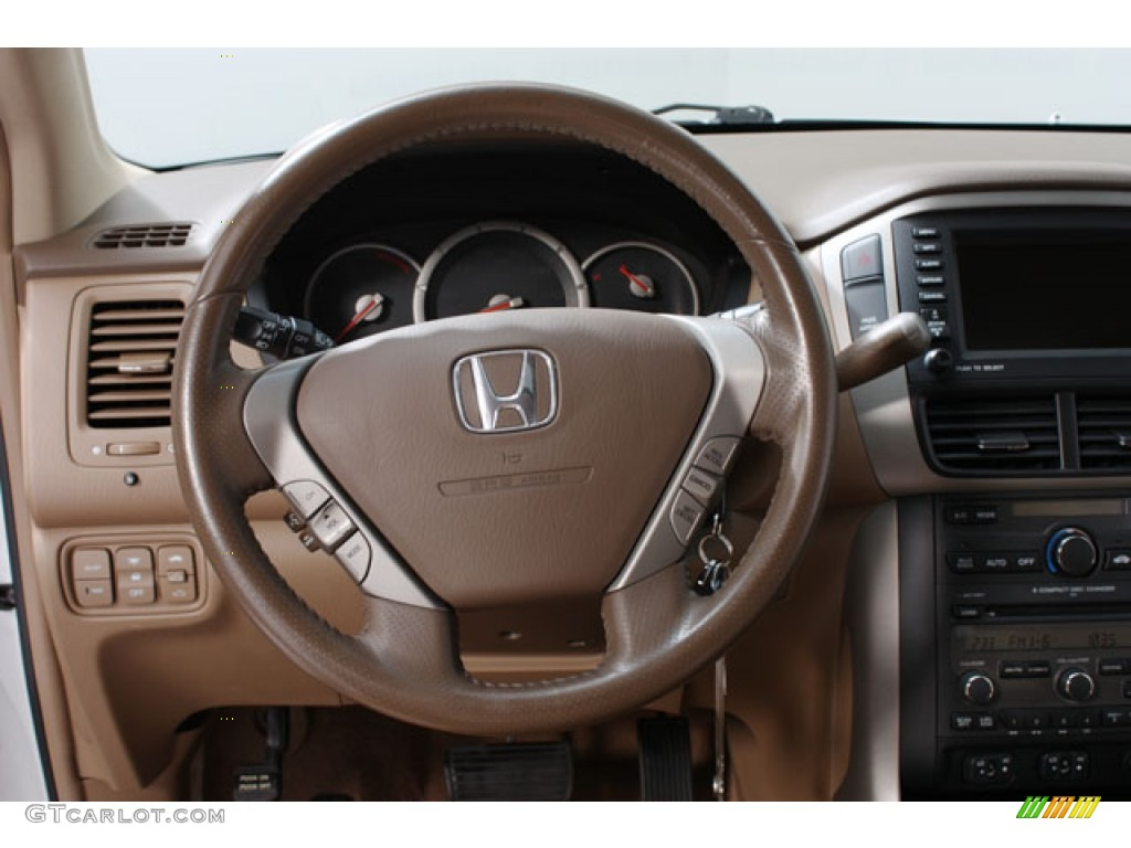 2007 Honda Pilot Ex L Saddle Steering Wheel Photo 58877850 Gtcarlot Com
