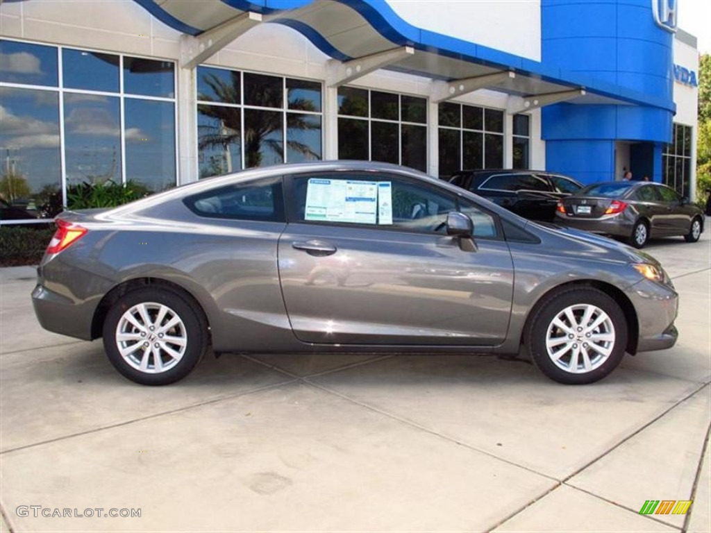 Polished Metal Metallic 2012 Honda Civic Ex Coupe Exterior