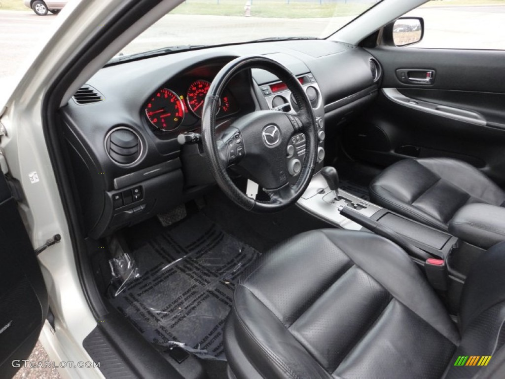 black interior 2004 mazda mazda6 s sport wagon photo 58901412. Black Bedroom Furniture Sets. Home Design Ideas