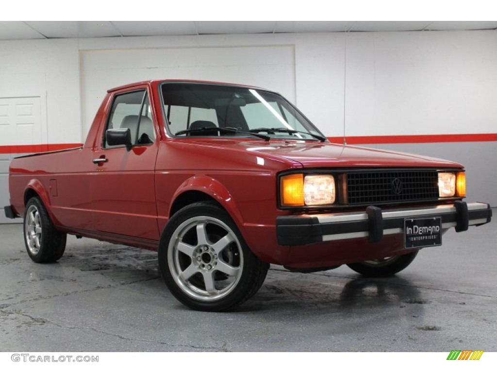 1981 red volkswagen rabbit pickup caddy 58915472 car color galleries. Black Bedroom Furniture Sets. Home Design Ideas