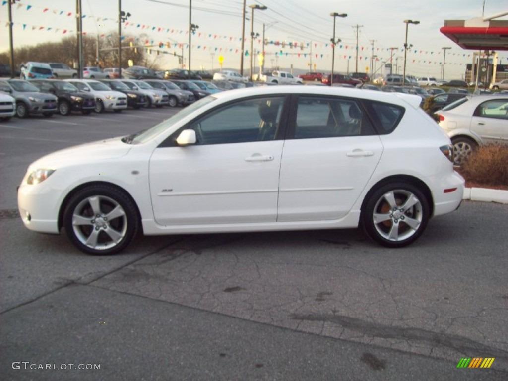 2004 rally white mazda mazda3 s hatchback #58915402 photo #2