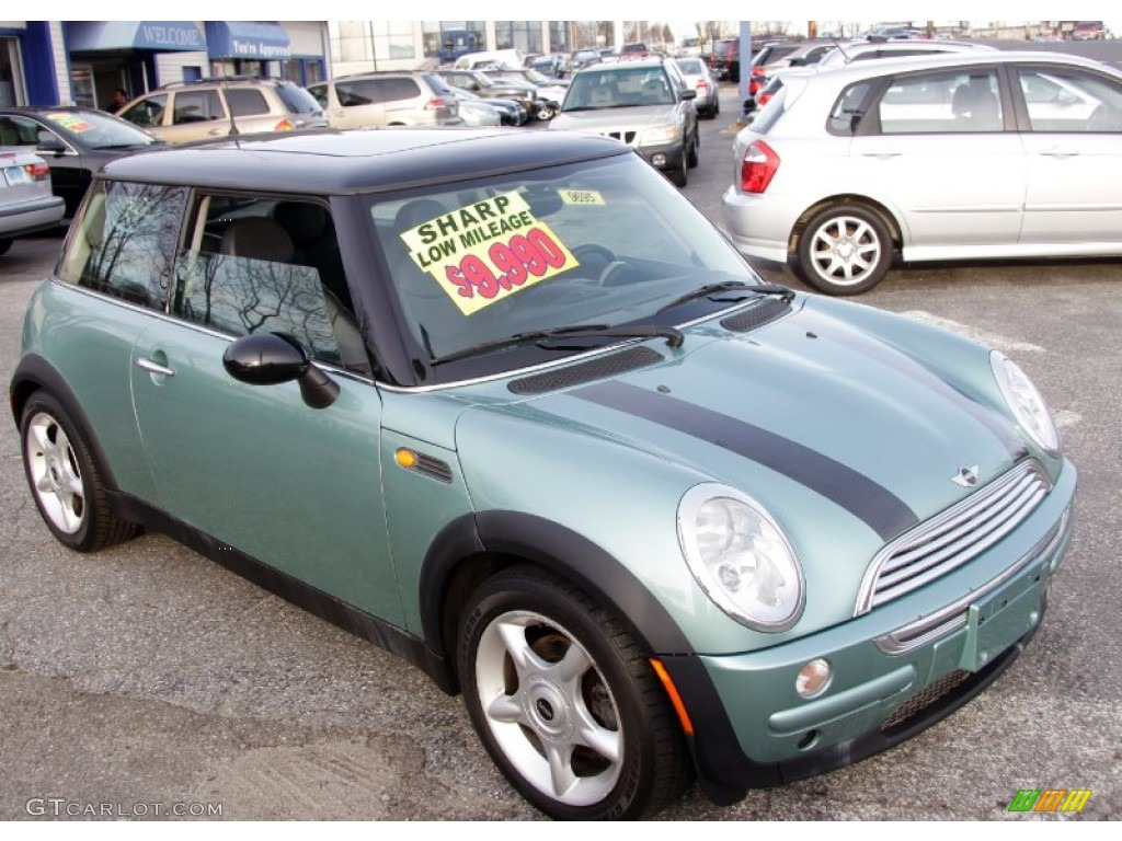 2002 silk green metallic mini cooper hardtop 58914932 photo 3 car color galleries. Black Bedroom Furniture Sets. Home Design Ideas