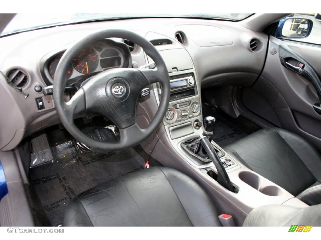 Black/Silver Interior 2000 Toyota Celica GT Photo #58968420