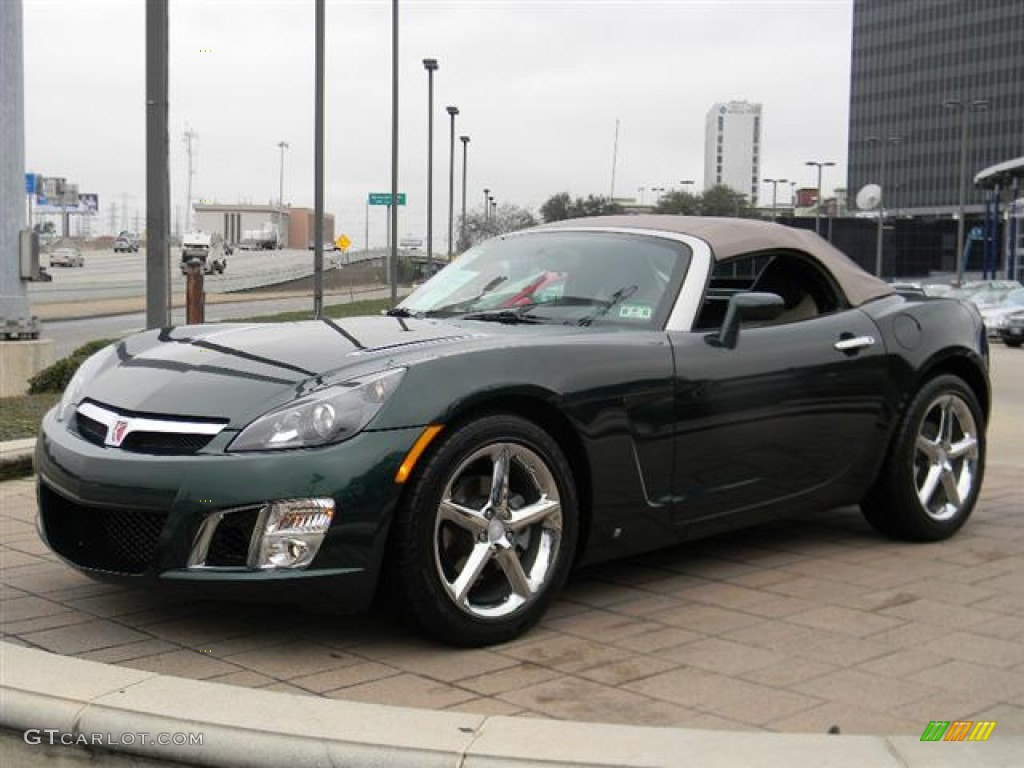 Forest Green 2008 Saturn Sky Red Line Roadster Exterior