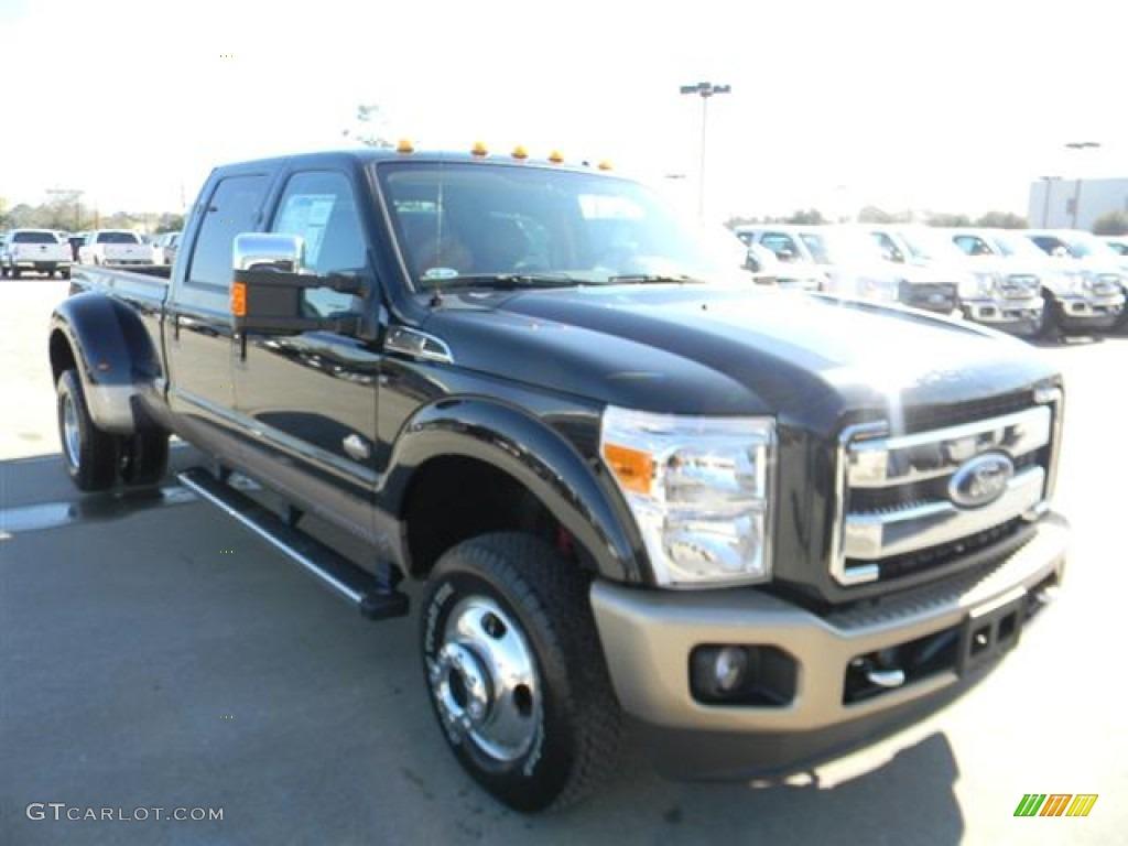 2012 tuxedo black metallic ford f350 super duty king ranch crew cab 4x4 dually 59001797 photo