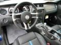 2012 Ford Mustang Charcoal Black/Grabber Blue Interior Prime Interior Photo