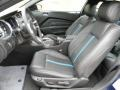 2012 Ford Mustang Charcoal Black/Grabber Blue Interior Interior Photo