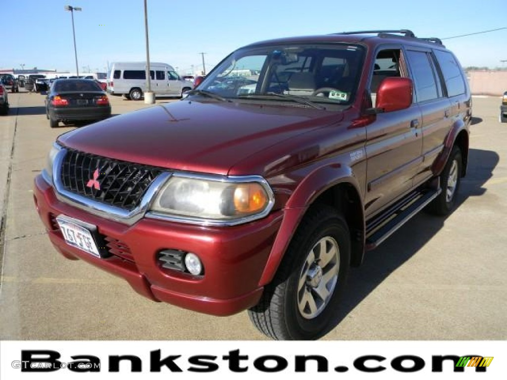 2000 Cambridge Red Pearl Mitsubishi Montero Sport Limited