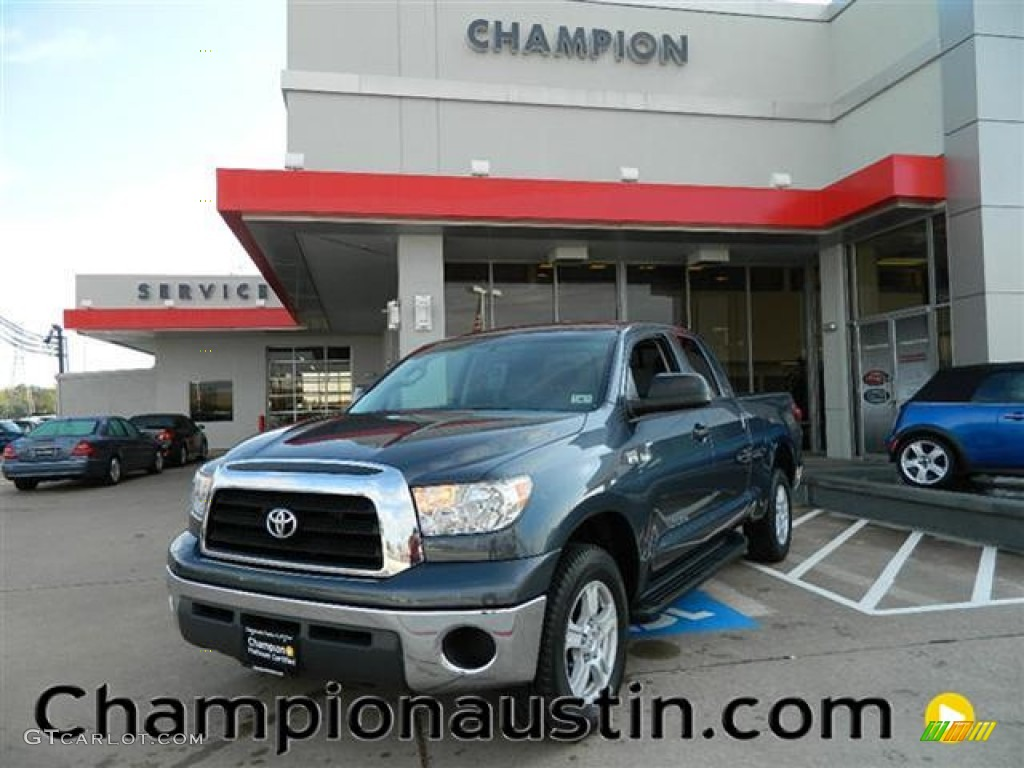 2009 Tundra SR5 Double Cab - Slate Gray Metallic / Graphite Gray photo #1