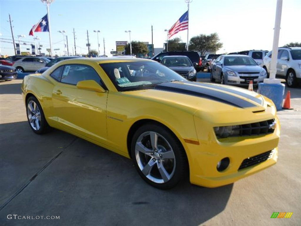 rally yellow 2012 chevrolet camaro ss coupe exterior photo 59016305. Black Bedroom Furniture Sets. Home Design Ideas