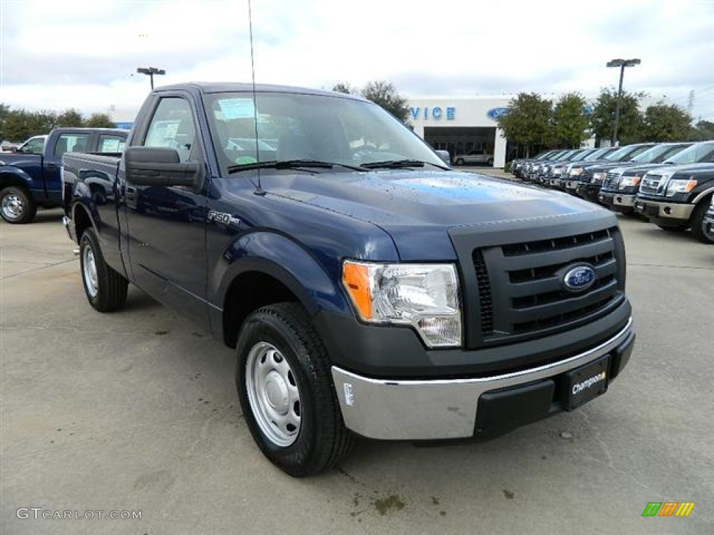 dark blue pearl metallic 2012 ford f150 xl regular cab exterior photo 59019752. Black Bedroom Furniture Sets. Home Design Ideas