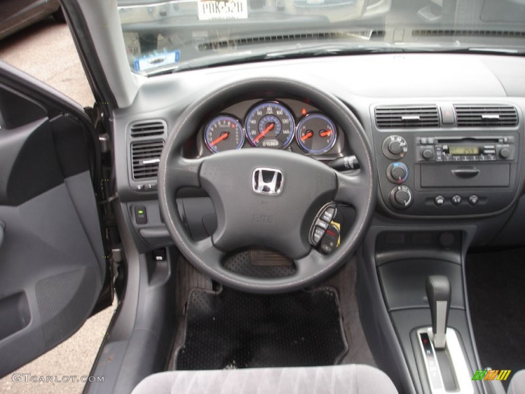 2005 Honda Civic Lx Sedan Gray Dashboard Photo 59038219