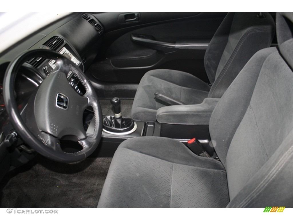 Black Interior 2005 Honda Civic Lx Coupe Photo 59046103