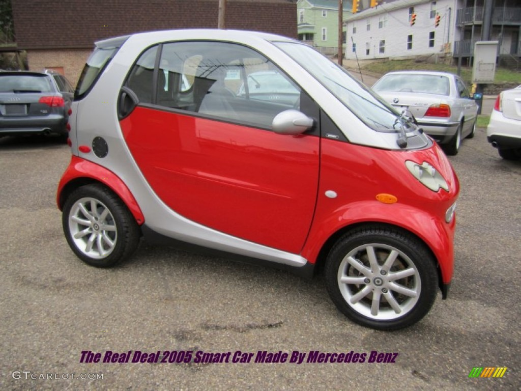 2005 Smart fortwo Turbo Coupe - Phat Red Color / Dark Grey Interior