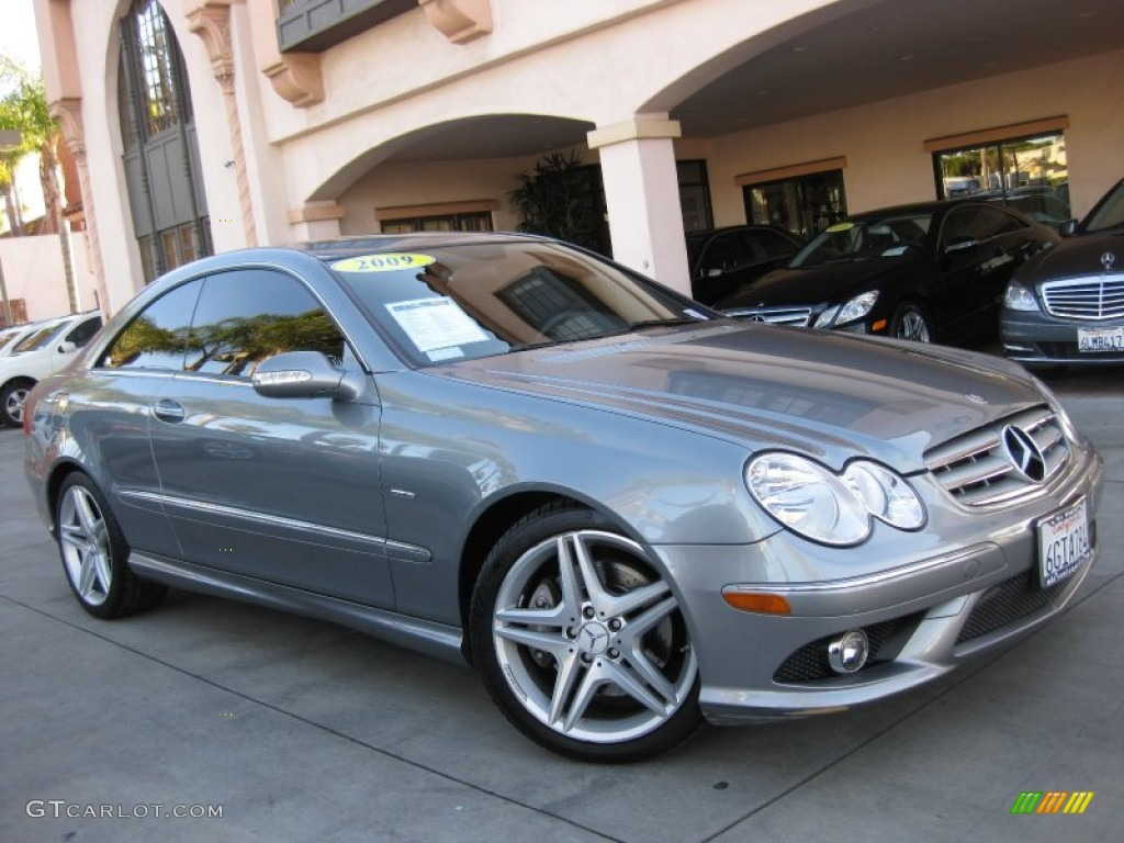 2009 palladium silver metallic mercedes benz clk 350 grand for Mercedes benz clk 2009