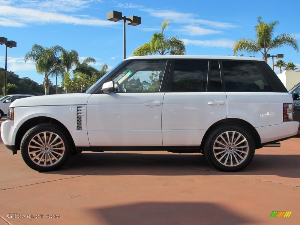 fuji white 2012 land rover range rover supercharged. Black Bedroom Furniture Sets. Home Design Ideas