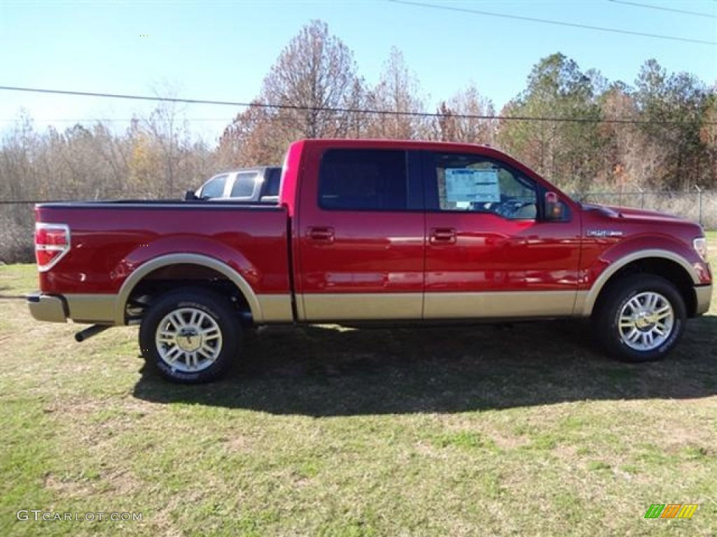 2012 red candy metallic ford f150 lariat supercrew 59053839 photo 8 car color. Black Bedroom Furniture Sets. Home Design Ideas