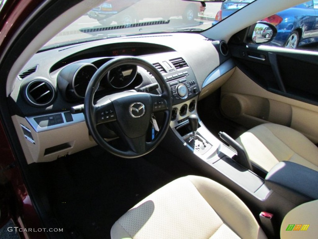 mazda 3 2010 interior. dune beige interior 2010 mazda mazda3 i touring 4 door photo 59080694 3