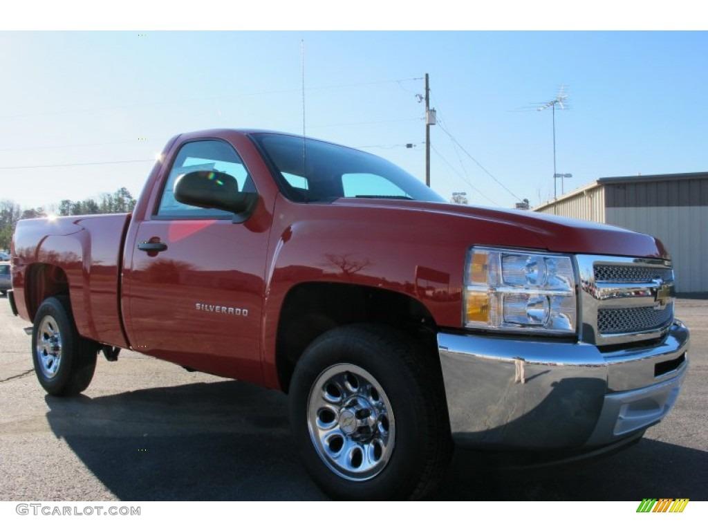 2012 Silverado 1500 Work Truck Regular Cab - Victory Red / Dark Titanium photo #1