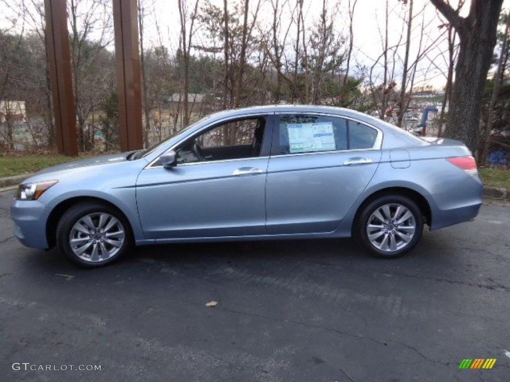 celestial blue metallic 2012 honda accord ex v6 sedan exterior photo