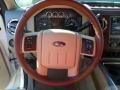 2012 White Platinum Metallic Tri-Coat Ford F250 Super Duty King Ranch Crew Cab 4x4  photo #29