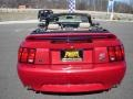 2000 Laser Red Metallic Ford Mustang GT Convertible  photo #4
