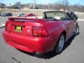 2000 Laser Red Metallic Ford Mustang GT Convertible  photo #5