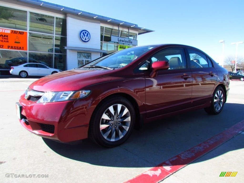 2009 tango red pearl honda civic ex l sedan 59117257 car color galleries. Black Bedroom Furniture Sets. Home Design Ideas