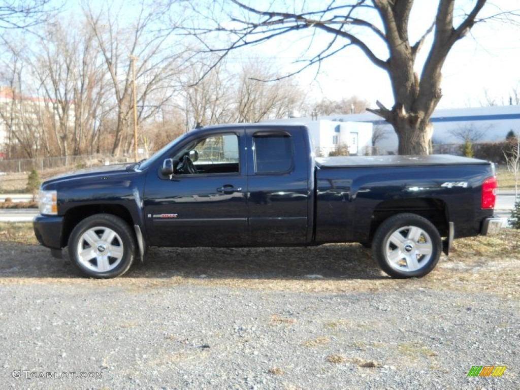 dark blue metallic 2007 chevrolet silverado 1500 ltz. Black Bedroom Furniture Sets. Home Design Ideas