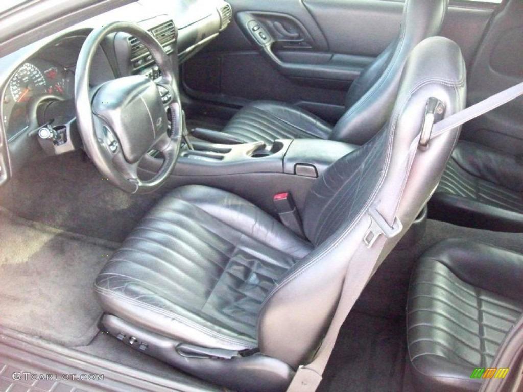 Ebony black interior 2002 chevrolet camaro z28 ss 35th anniversary edition coupe photo 59172489