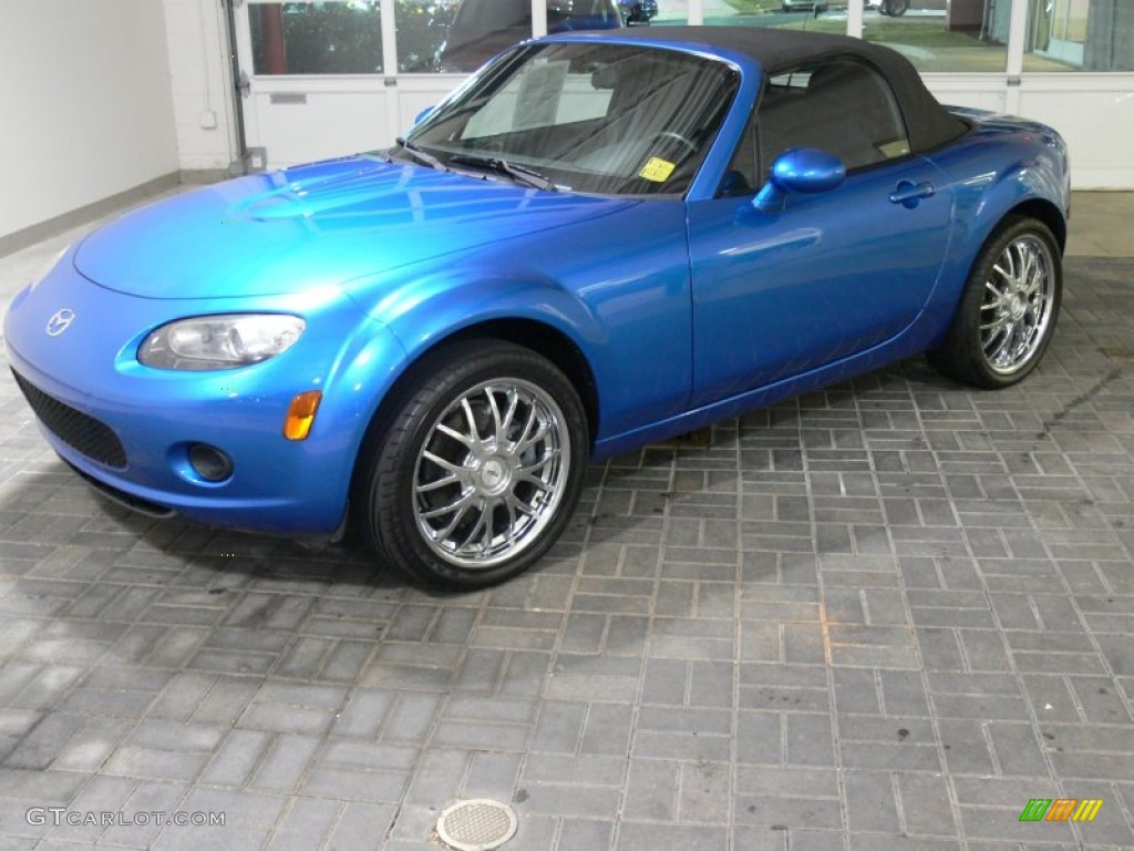 2006 winning blue metallic mazda mx 5 miata sport roadster 59169309 car color. Black Bedroom Furniture Sets. Home Design Ideas
